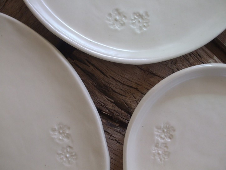 Detail of 'soft white' plates